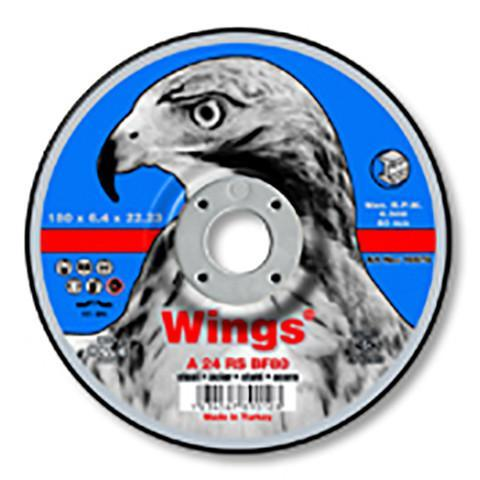 Wings 230/6/22Grinding Discs Metal Depressed