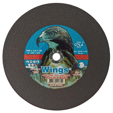 Wings 230/22 Thin Metal Cutting Disc - Wings - Abrasives, Cutting & Grinding - Lapwing UK