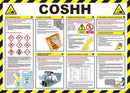 Wall Chart COSHH on Construction Sites - Orbit - Safety Signage - Lapwing UK