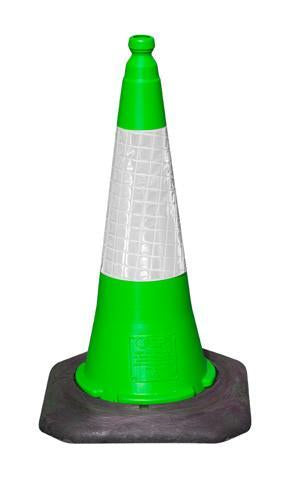 750mm 2 Part Green Cone with D2 Sleeve - Orbit - Traffic Management - Lapwing UK