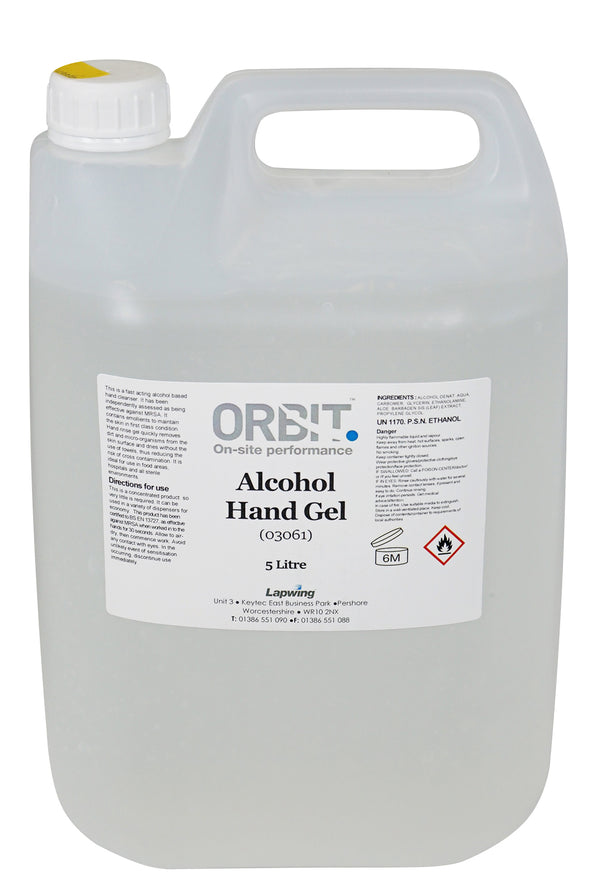 Orbit Hand & Surface Sanitiser 70% Alcohol - 5L - Orbit - Hand Cleaners - Lapwing UK