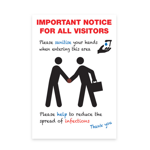 Important Notice - Covid Visitor Safety Sign A3 - LapwingUK B2C - Safety Signage - Lapwing UK