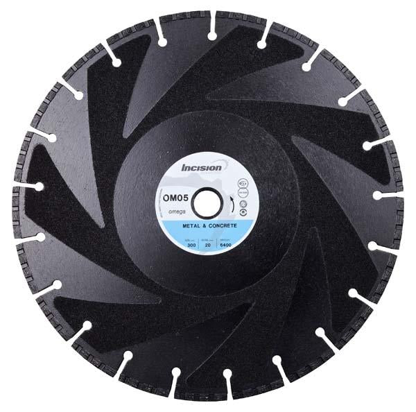 OM-05 Metal and Concrete Cutting Diamond Blade - Incision - Specialist Blades - Lapwing UK