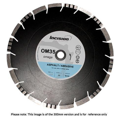 OM35 Green Concrete and Abrasive Materials Diamond Blade