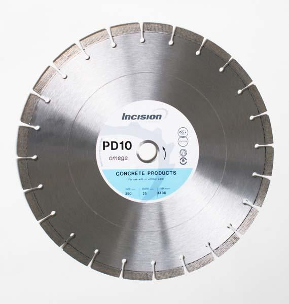 PD10-500/25 - Incision Placed Diamond Blade Concrete - Incision - Diamond Tools - Lapwing UK
