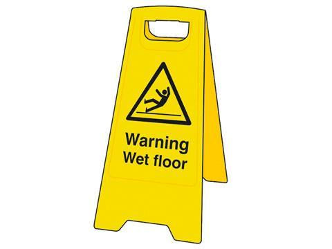 'A' Sign - Caution Wet Floor - Orbit - Janitorial Supplies - Lapwing UK