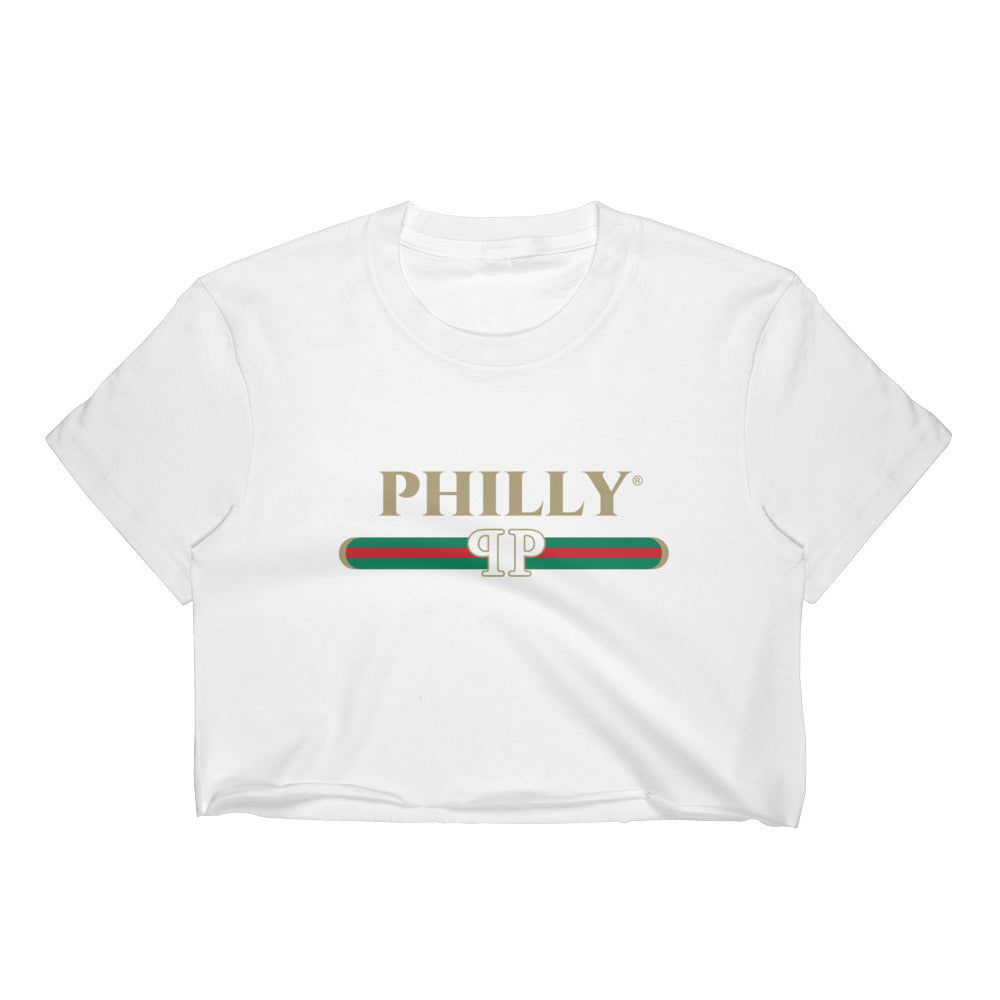 bb89e4399c6 BeautiPhilly Gucci Inspired Philly Women's Crop Top
