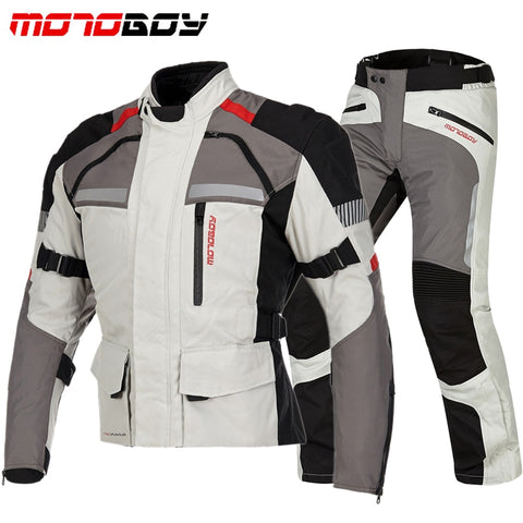 Motorcycle Protective Racing Jacket & Pants Reflective Waterproof Chaqueta Moto Warm Jaqueta Motoqueiro Clothing CE Suits
