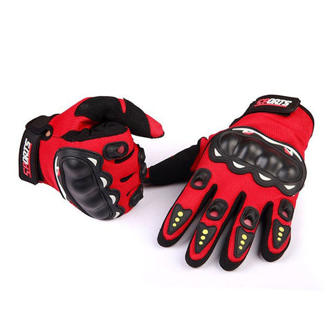 Motorcycle non-slip gloves leather full finger motorcycle gloves motorcycle protective cover motorcycle cross-country gloves