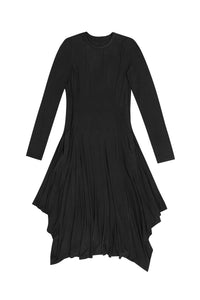 Black Back Pully Dress with Round Neck
