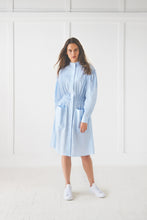 Load image into Gallery viewer, Blue Shirt Dress