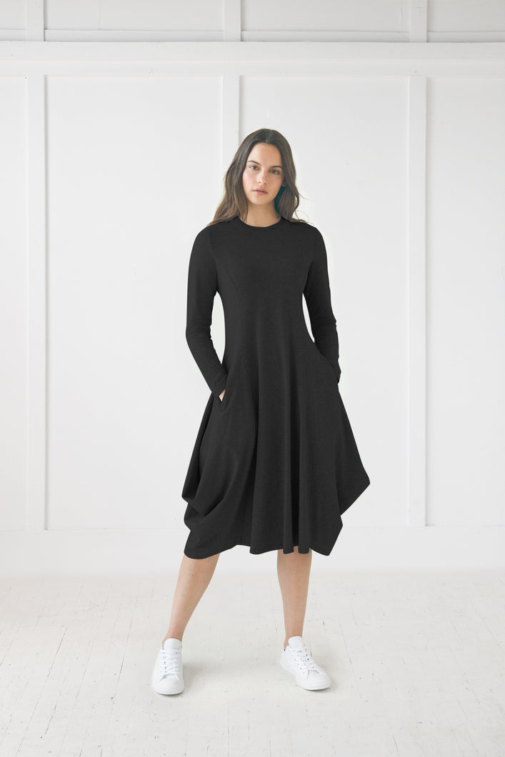 Black Back Pully Dress