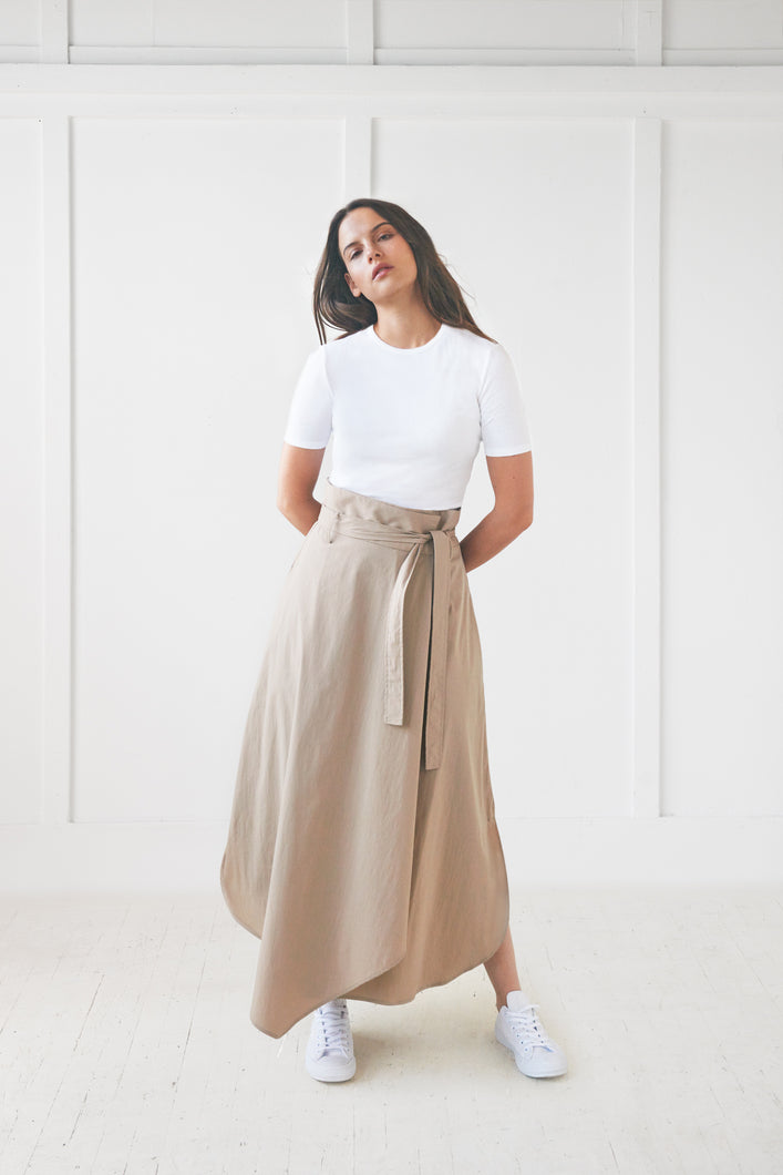 Beige Wrap Skirt