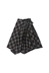 Scrunched Plaid Skirt