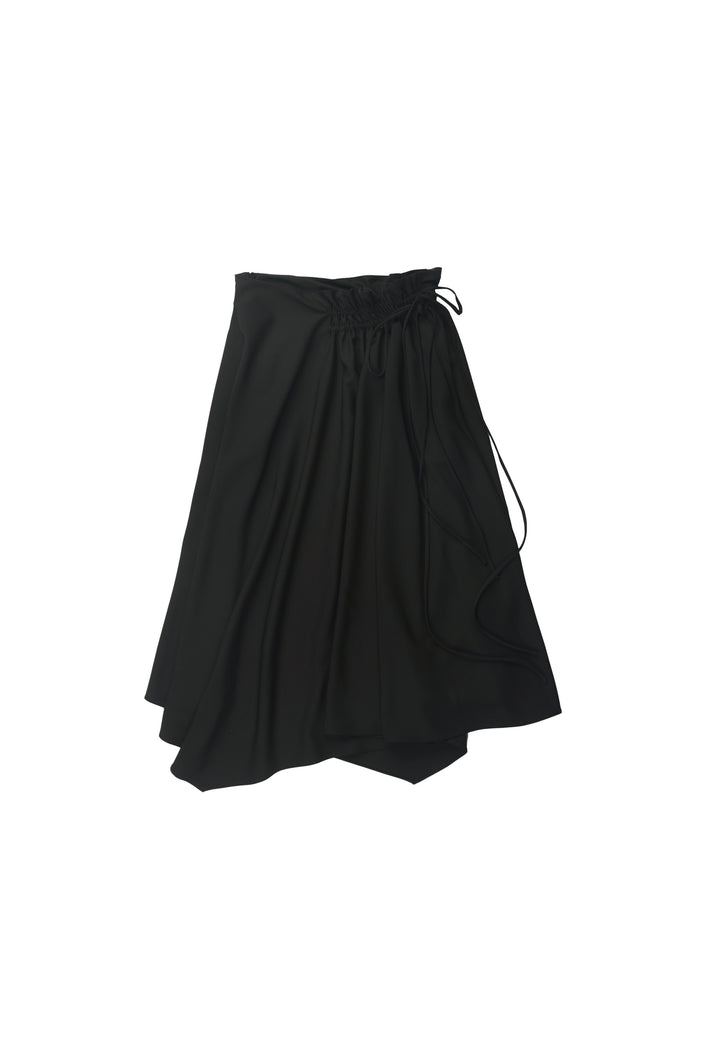 Scrunched Black Skirt