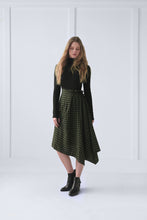 Load image into Gallery viewer, Plaid Asymmetrical Skirt