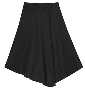 Black Mesh Asymmetric Skirt