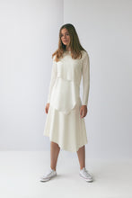 Load image into Gallery viewer, Ivory Mesh Asymmetric Skirt