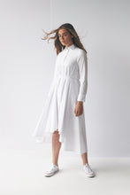 Load image into Gallery viewer, White Voluminous Shirt Dress