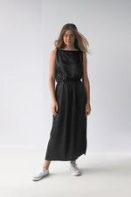 Load image into Gallery viewer, Satin Tie Tank Dress