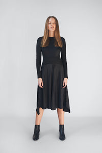 Silk Ribbed Dress