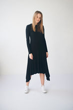 Load image into Gallery viewer, Black Ribbed Dress