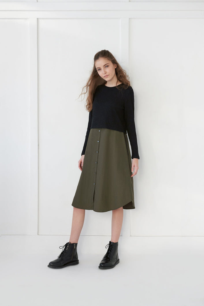 Sweater Shirt Dress - Unaya women's modest tops skirts dresses jewish girls conservative clothing fashion apparel