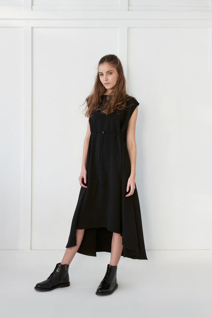 Black Full Dress - Unaya women's modest tops skirts dresses jewish girls conservative clothing fashion apparel