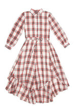 Load image into Gallery viewer, Plaid Shirt Dress - Unaya women's modest tops skirts dresses jewish girls conservative clothing fashion apparel