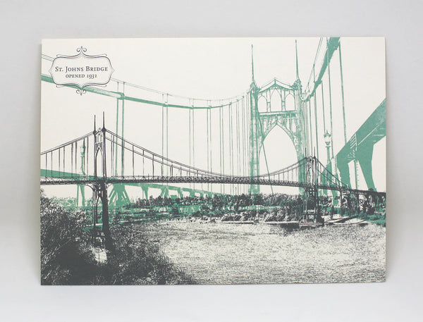 St. Johns Bridge Postcard