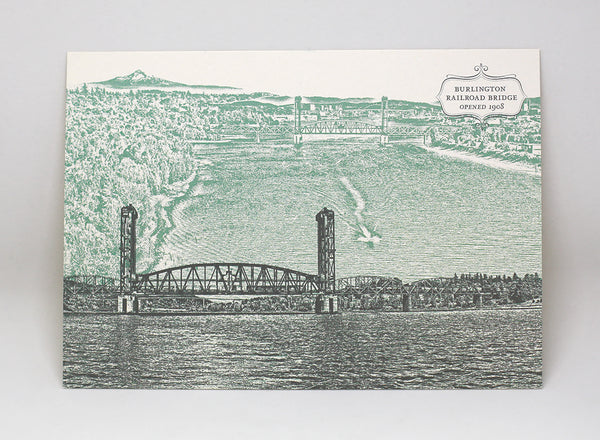 Burlington Northern Railroad Bridge Postcard