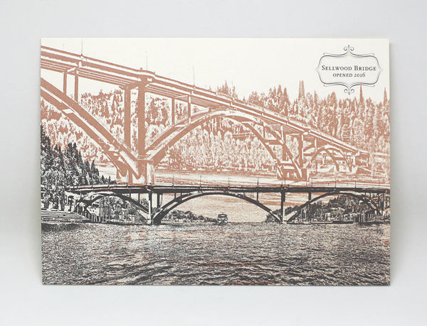 Sellwood Bridge Postcard