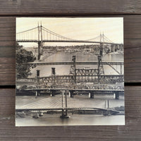 Over the River - Wood Print