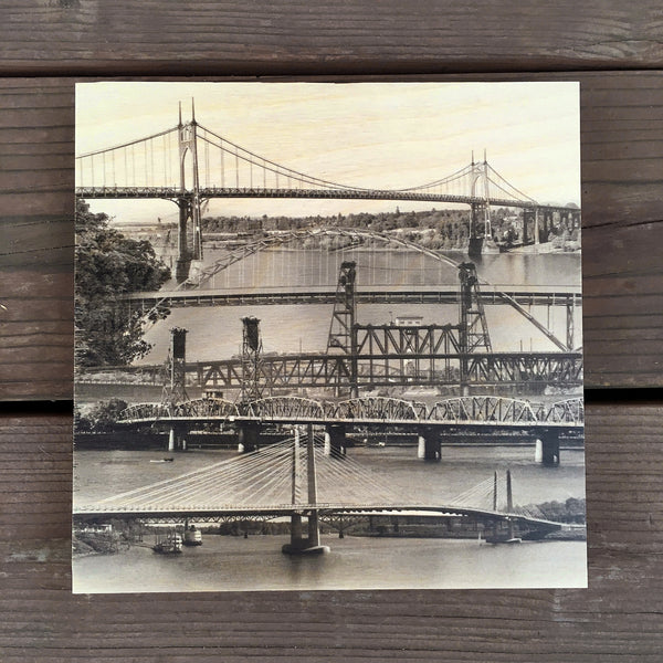 Over the River - Wood Print - Sold Out