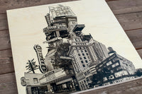 Short Tower of Portland - Wood Print