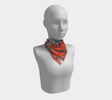 Portland, Oregon Marquees Square Scarf - Orange