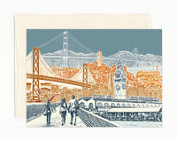 ON SALE!! -- San Francisco Notecard Set - full color - California - 6 folded Greeting Cards