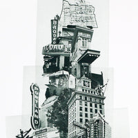 Portland Fine Art -- Tower of Portland -- Original Art Print -- Photographic Etching -- Photography -- Oregon