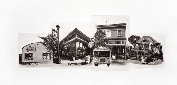Portland Fine Art -- High Noon on Alberta Street -- Original Art Print -- Photographic Etching -- Photography -- Oregon