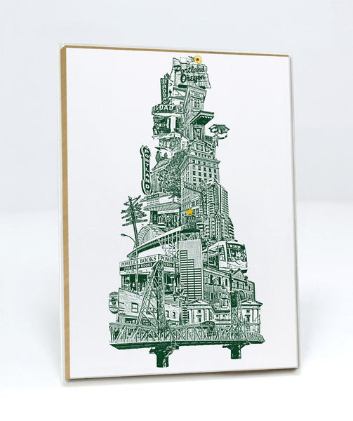 Portland Holiday Cards -- Portland Holiday Tree -- 5x7 -- Single Card or Set of 6