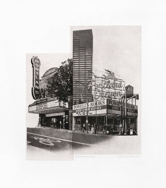Portland Fine Art -- Portland Icons -- Original Art Print -- Photographic Etching --Photography -- Oregon