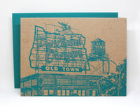 Portland Notecard -- White Stag Sign Greeting Card -- Portland Oregon sign -- Single card or Set of 6