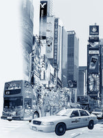 NYC Archival Pigment Print -- Walking Through Times Square -- Photomontage -- Limited Edition Fine Art Print -- Photo Collage