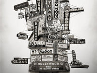 Portland Archival Pigment Print -- Portland Marquee Totem -- Photomontage -- Limited Edition Fine Art Print -- Photo Collage