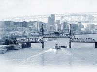 Portland Archival Pigment Print -- Crossing the Willamette -- Photomontage -- Limited Edition Fine Art Print -- Photo Collage