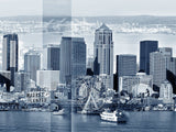 Seattle Archival Pigment Print -- Seattle View from Elliot Bay  -- Photomontage -- Limited Edition Fine Art Print -- Photo Collage