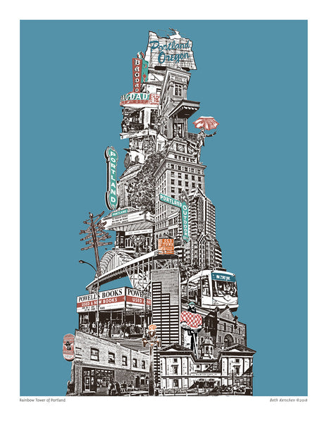 Portland Art Print – Chromatic Tower of Portland