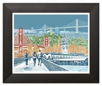 San Francisco Art Print – Bay View – Blue Skies
