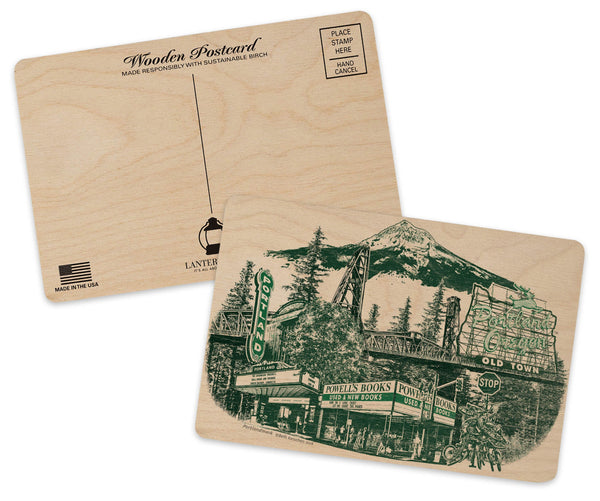Portland Oregon Wood Postcard