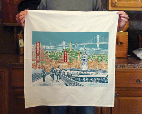 San Francisco Cityscape Towel – Bay Area View